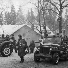 GIs of the 26th Infantry Division move through Clervaux, scene of much hard fighting in northern Luxembourg, after the town's liberation, January 25, 1945. #ww2weapons #ww2history #battleofthebulge #ww2 #warpics #warhistory #worldwar2 #worldwar #worldwarii #worldwartwo #usarmy #wwii #wwiimemorial #bandofbrothers #currahee #tanks #ww2tanks #history #war #veterans #relics #metaldetecting #historian #airborne #1944 #bastogne