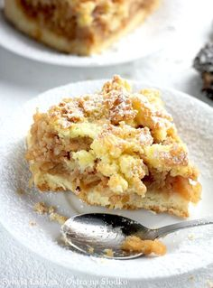 Apple Cake Recipes, Cookie Recipes, Dessert Recipes, Sweet Desserts, Delicious Desserts, Polish Desserts, Sweets Cake, Fondue, Food To Make