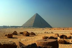 foto of great pyramids - The Great Pyramid of Giza (also known as the Pyramid of Khufu or the Pyramid of Cheops) is the oldest and largest of the three pyramids in the Giza Necropolis bordering what is now El Giza, Egypt. ** Note: Visible grain at 100%, best at smaller sizes - JPG