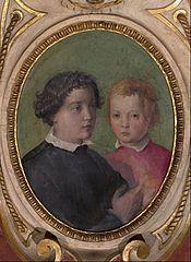 Giovanni e Garzia di Cosimo I de' Medici by Giorgio Vasari ~ -Firenze, Palazzo Vecchio, Sala di Cosimo I