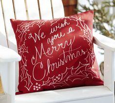 We Wish You a Merry Christmas Indoor/Outdoor Pillow