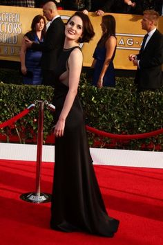 Michelle Dockery at the 19th Annual Screen Actors Guild Awards Arrivals Shrine Auditorium Los Angeles CA  #redcarpet #celebrity #fashion #style #actress #celebrities