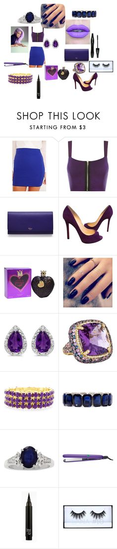 Sem título #120 by brunagzilli on Polyvore featuring moda, WearAll, Christian Louboutin, Mulberry, Judith Ripka, BillyTheTree, Monet, Huda Beauty, Vera Wang and Conair