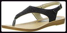 Inblu Damen Zehentrenner schwarz, Größe:40;Farbe:Schwarz - Sandalen für frauen (*Partner-Link)