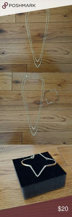 Victoria secret necklace & braclet set New never worn, in box. Necklace & braclet set. Victoria's Secret Jewelry Necklaces