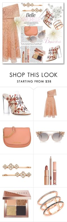"""""""Paul Andrew Blossom Embellished Sandals"""" by kimzarad1 ❤ liked on Polyvore featuring Paul Andrew, Lela Rose, Michael Kors, Henri Bendel, Dolce Vita, Bobbi Brown Cosmetics and EF Collection"""