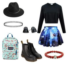 """""""Untitled #21"""" by deliaaaaaa ❤ liked on Polyvore featuring Chicnova Fashion, Dr. Martens, BeckSöndergaard and JanSport"""