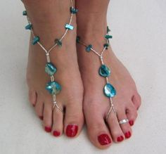 Barefoot Sandals Mother of Pearl ... from 'beachfootjewelry' on Lilyshop for $34.95