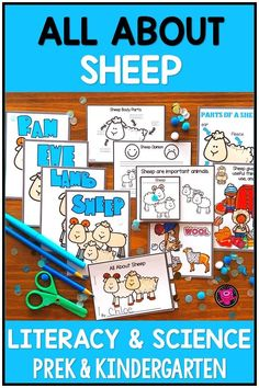 All About SHEEP Literacy and Science Unit for PreK and Kindergarten Teaching Posters, Primary Teaching, Teaching Activities, Hands On Activities, Teaching Ideas, Science Fair Projects, Science Lessons, Science Education, Science Experiments