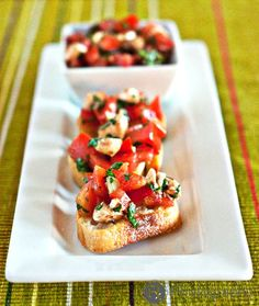 *Tried and true, Stephanie-approved: the more balsamic vinegar the better!* Caprese Bruschetta