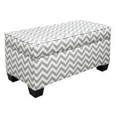 Adorable Chevron Storage Bench - wonder if I could convert our action packers into something like this?