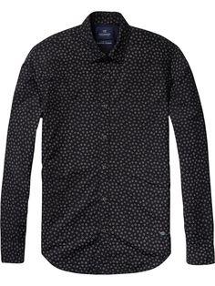 All-over bedrukt overhemd | Overhemden l/s | Herenkleding bij Scotch & Soda