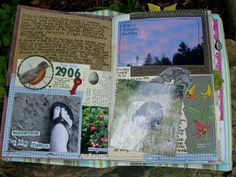 love the layers and doodling and notes on the photo.