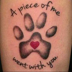 23 Emotional Memorial Tattoos to Honor Loved Ones: #23. DOG MEMORIAL TATTOO; #memorial; #tattoos; #tattooart