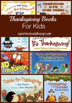 A list of fun Thanksgiving books for kids. Picture books for preschoolers and chapter books for older kids, too.  Great for a homeschool Thanksgiving study