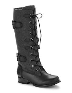 Shoes | Winter Boots | Naine Buckled Lace-Up Boots | Hudson's Bay