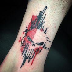 """Rebekka Rekkless Tattoo Artist (@rebekkarekkless) on Instagram: """"Trash punisher skull. More chaos tattoos please ✌️️❤️✨ @divineartattoo #divinearttattoo…"""""""