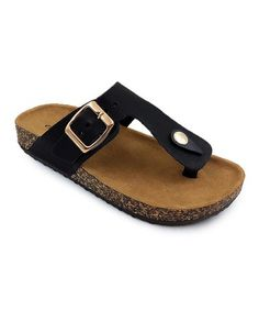 Another great find on #zulily! Black Britt Sandal - Kids #zulilyfinds