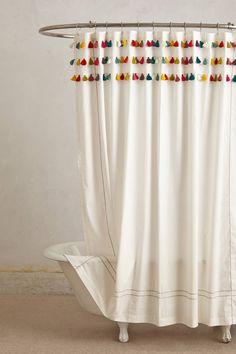 Lindi Fringe Shower Curtain - anthropologie.com