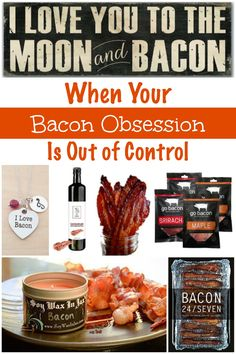 If you know someone with a bacon obsession (or you have one), these items should be on your must-have list to take your bacon obsession to a whole new level! Candied Bacon Recipe, Bacon Recipes, Maple Bacon, Turkey Bacon, Delicious Dishes, Food Dishes, Christmas Time, Good Food, Gift Ideas