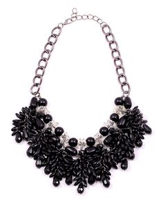 black necklace www. Black Necklace, Crochet Necklace, Necklaces, Jewelry, Fashion, Moda, Jewlery, Jewerly, Fashion Styles