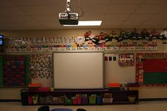 Storage under the smart board