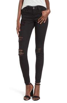 d67403bf8c374 STS Blue Piper Destroyed Skinny Jeans available at  Nordstrom Black Jeans