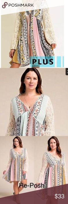 Boho bell sleeve dress. I absolutely love this dress. It says it's an XL. I'm a 12/14 And it's to big. Had my mom try it on and she is a 14/16. Slightly to big on her. I am listing it as a 16. Will fit loose. But not huge. It has never been worn. Original tags still on the dress. I will buy me a smaller one once this sells. I will post measurements. kori Dresses Long Sleeve