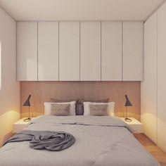 Em um apartamento com apenas um quarto ganhamos mais espaço com armário 'em cima da cama' e na lateral.  E ai curtiram?  ARD Studio - São Paulo