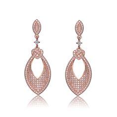 Collette Z Rose-plated Sterling Silver Cubic Zirconia Round Drop Earrings (CZ Earrings), Women's, White Earrings Uk, Small Earrings, Silver Drop Earrings, Diamond Earrings, Gold And Silver Bracelets, Silver Charms, Gold Jewelry, Silver Ring, Jewellery