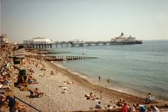 Eastbourne pier and beach
