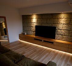 神戸・大阪・東京目黒より、オーダーメイドのテレビボードをご提案致します。 | kanna Home Design Decor, Interior Design Living Room, House Design, Tv Wall Cabinets, Living Room Tv Unit Designs, Zeina, Tv Wall Design, Luxury Dining Room, Wall Cladding