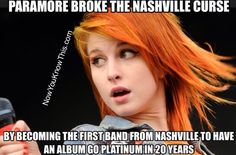 Paramore breaks the Nashville curse  www.nowyouknowthis.com