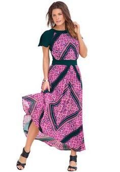 Denim 24/7®  Scarf Print Dress