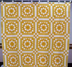 Carpenter Wheel Quilt-I love all kinds of yellow!
