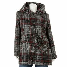 Apt. 9 Hooded Boucle Wool-Blend Coat - Women's Plus.  I so bought this.