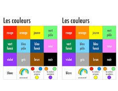 Madame Belle Feuille: Vocabulary Tools Great site for free visual printables French Teacher, Teaching French, How To Speak French, Learn French, Teaching Secondary, First Year Teaching, French Colors, I Can Statements, Core French
