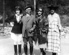 Actresses Ruth Roland, left, and Mary Miles Minter, shown with Mr. and Mrs. Leslie Brand at their April Fools Day Fly-in Party, 1921. Let's have a Fly-in Party.