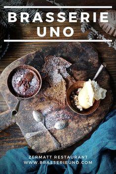 Brasserie Uno Menu: Restaurant in Zermatt: Creative cooking, fresh flavours, excellent service. Vegetarian Chocolate, Vegan Chocolate, Vegan Vegetarian, Olive Oil Ice Cream, Course Meal, Tasting Menu, Zermatt, Seasonal Food, Pumpkin Soup