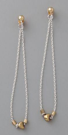 Bing Bang Mini Beaded Chain Earrings