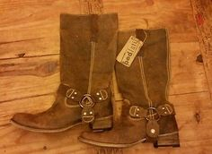 NWT Bed Stu Opal Tan Greenland Distressed Leather Size 10 Women Boots