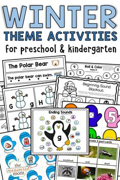 Check out these creative activities and printables for a winter theme in preschool! You'll find emergent readers, art and craft ideas, book lists, literacy ideas, and more!