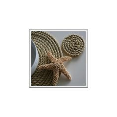 Seaside Inspired | nautical rope placemats from seasideinspired.com ❤ liked on Polyvore