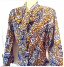 SANDY'S GINGHAM COUNTRY | eBay Stores White Short Sleeve Tops, Short Sleeves, Long Sleeve, Ebay Shopping, Plus Size Blouses, Gingham, Black Gold, Cuffs, Paisley