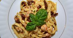 Gąska Malwinka: Makaron z kurczakiem i suszonymi pomidorami