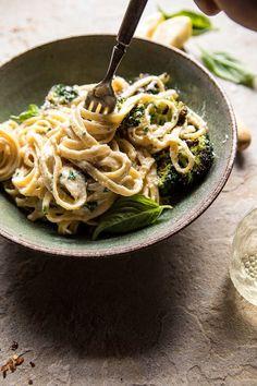 No-Guilt Broccoli Fettuccine Alfredo.