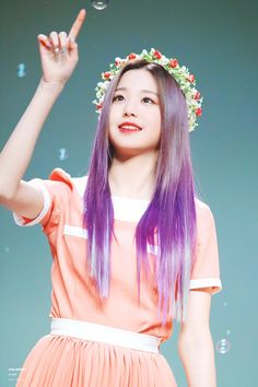 (Credits to the real owner/s) Yuri, Korean Hair Color, Jang Wooyoung, Young The Giant, Woo Young, Beautiful Asian Girls, Asian Style, Purple Hair, Ulzzang Girl