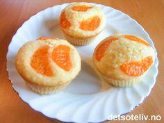 KJEMPEGODE muffins med Fanta og mandariner!!!!!! Oppskriften gir 12 stk.