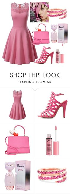 """Pink set"" by jasmina-ishak ❤ liked on Polyvore featuring Charlotte Russe and Anita Ko"