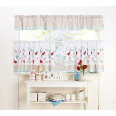 KOO Chickadee Cafe Curtain Multicoloured 300 Cm